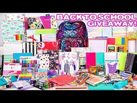 Biggest Back To School Giveaway EVER! Ft.  School Supplies, Makeup & More! 2 Winners
