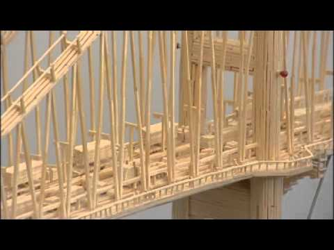 how to make train with matchsticks