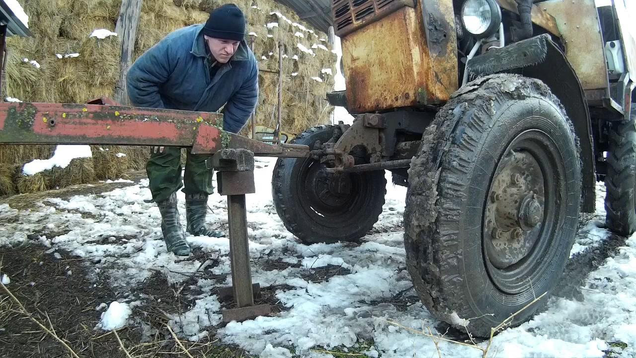 Весенняя погрузка навоза трактором МТЗ 82 - YouTube