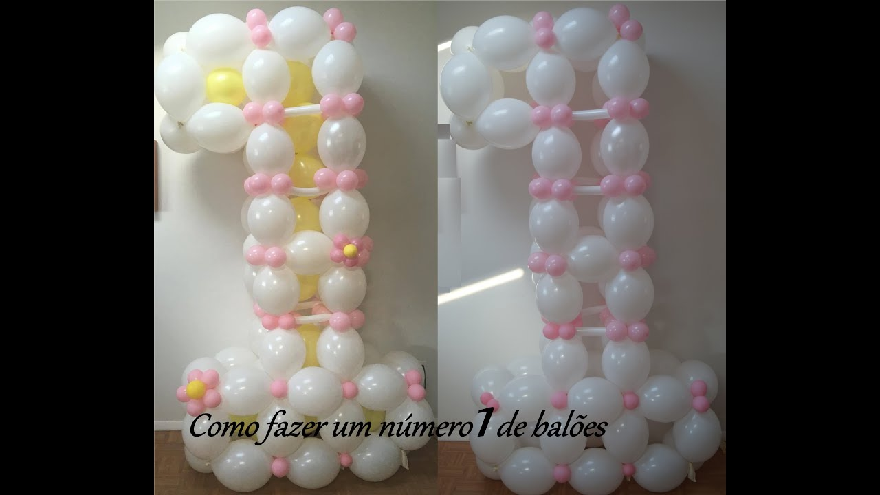 1st Birthday Balloon Decoration Ideas How To Make A Number One