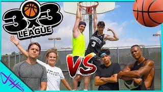 YOUTUBER 3v3 BASKETBALL! (Trick Shots ONLY)