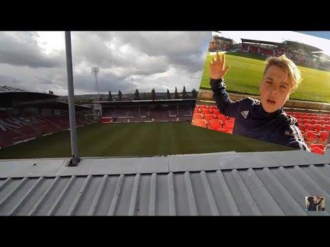 Climbing  [[Wrexham AFC] Football Stadium