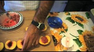"""From Farmers To Chefs - Peaches With """"amaretti"""" (cake)"""