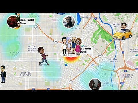 How see friends location on snapchat