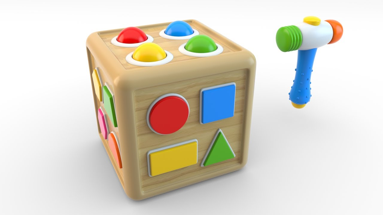 Learn Shapes With Wooden Educational Toys Colors And