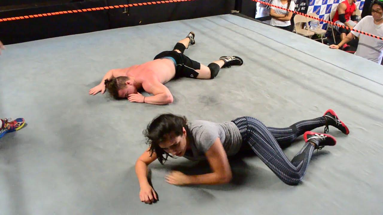 Training Match - Daria vs Tyler - Brian Kendrick School of Pro Wrestling