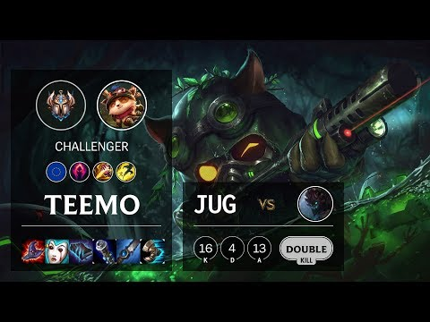 Teemo Jungle vs Maokai - EUW Challenger Patch 10.6