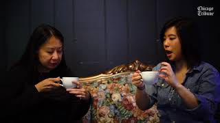 Dining reporters try Finom Coffee's Malort chai-town latte