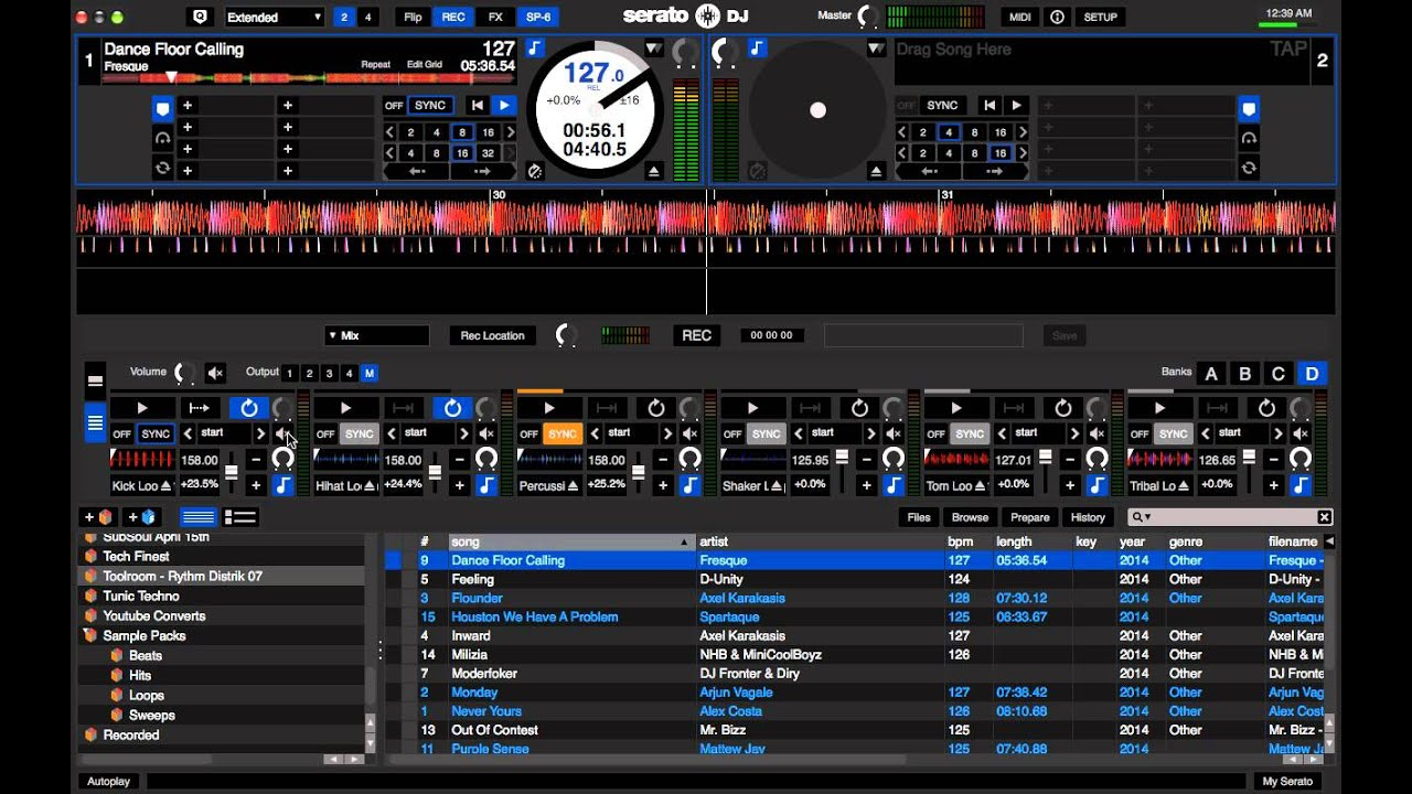 Serato DJ SP6 Sampler - YouTube