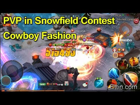 Sword Of Chaos, PVP In Snowfield Contest, Wearing Cowboy Fashion. By Ettin Gaming. SoC Gold Farming