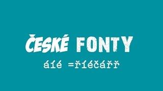 Jak nainstalovat český font/písmo - wind8