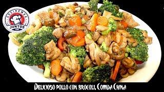 Delicioso pollo con brócoli 🥦 Comida china