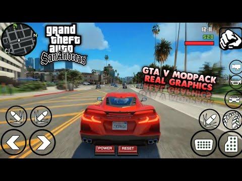 KEREN BANGET!! GTA SA MODPACK GTA V REAL GRAPHICS | Full Mod | Support All Os Android