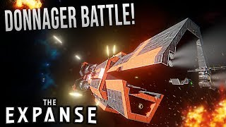 MCRN DONNAGER vs STEALTH SHIPS! - EPIC BATTLE! - The Expanse (Space Engineers)