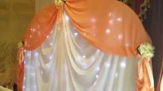 Оформление свадьбы тканями и цветами в королеве, ресторан Версаль оформление