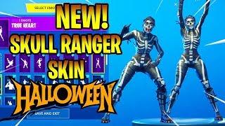 *NEW* SKULL RANGER SKIN SHOWCASE With DANCE EMOTES! Fortnite Battle Royale