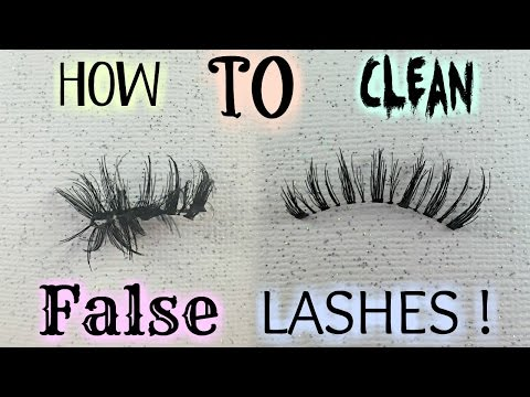How To Clean False or Fake Eyelashes To Use and Keep Them Longer And Save Money | BeautyByJosiek