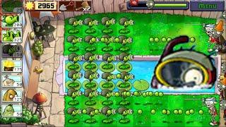 Best strategy Plants vs Zombies - All Chompers vs Survival Roof PVZ mod