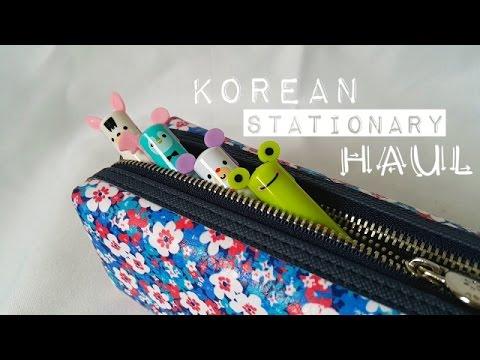 Korean Stationary Haul: pens, cases, stickers, etc.