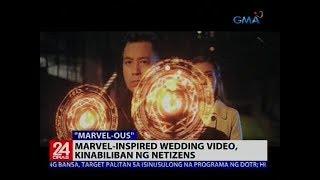Marvel-inspired wedding video, kinabiliban ng netizens