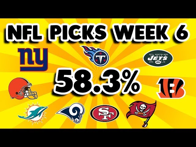 Nfl Week 6 Picks Schedule Odds For Every Game And Expert Predictions Against The Spread