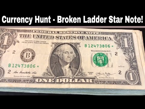 Currency Search - $650 In $1 Bills For Star Notes!