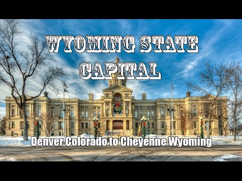 Driving I-25 Denver Colorado to Cheyenne Wyoming (State Capitals)