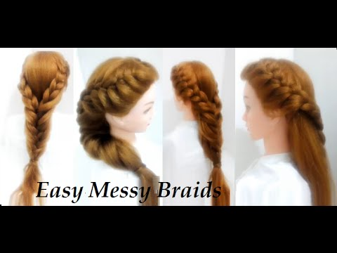 Hairstyles for Long Hair   Easy Messy Braid - YouTube