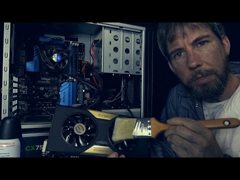 Computer Cleaning & Basics with The Repairman [ ASMR ]