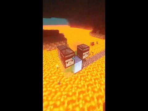 ❓Как сделать АВТОМАТИЧЕСКИЙ МОСТ в МАЙНКРАФТЕ через лаву? / Эрик Плей  механизмы Minecraft #Shorts