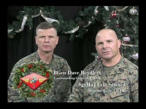 1st Marine Aircraft Wing Commanding General & Sergeant Major's Holiday Greeting