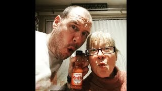 Franks Hot Sauce Challenge, good news and head shave
