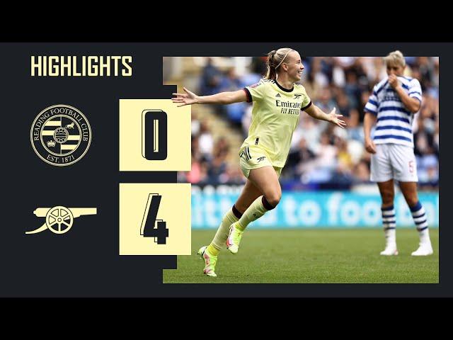 HIGHLIGHTS | Reading vs Arsenal (0-4) | Women's Super League | Beattie, Mead, Miedema (2)