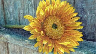Sunflower Fence Acrylic Painting LIVE Tutorial
