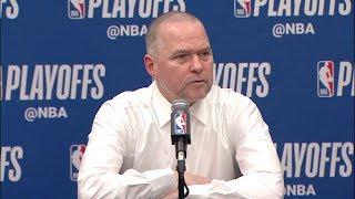 Mike Malone Postgame Interview - Game 7 | Spurs vs Nuggets | 2019 NBA Playoffs