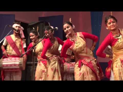 New Assamese 2017 Bihu Dance  Live performance  Folk Dance