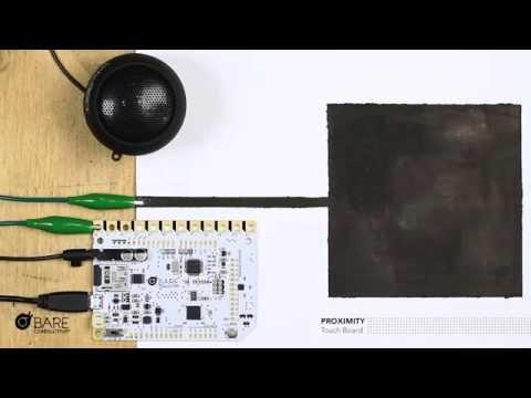 Touch Board Proximity Tutorial Demo 1 - Bare Conductive