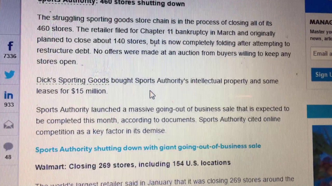 9ee9d33610d Dicks Sporting Goods Closing All Stores - YouTube