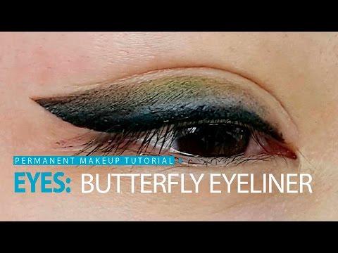 Уроки татуажа - мягкая стрелка с растушевкой/  Soft Butterfly Eyeliner