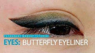 Уроки татуажа - мягкая стрелка с растушевкой/  Soft Butterfly Eyeliner(Получите больше бесплатных уроков и курсов по этой ссылке: Нажмите