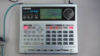 boss dr 880 dr rhythm drum machine with 440 drum percussion sounds