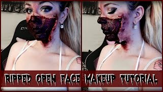 Ripped Open Face Makeup Tutorial!