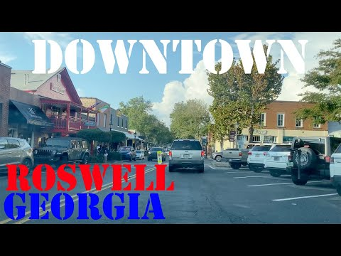 Roswell - Georgia - 4K Downtown Drive