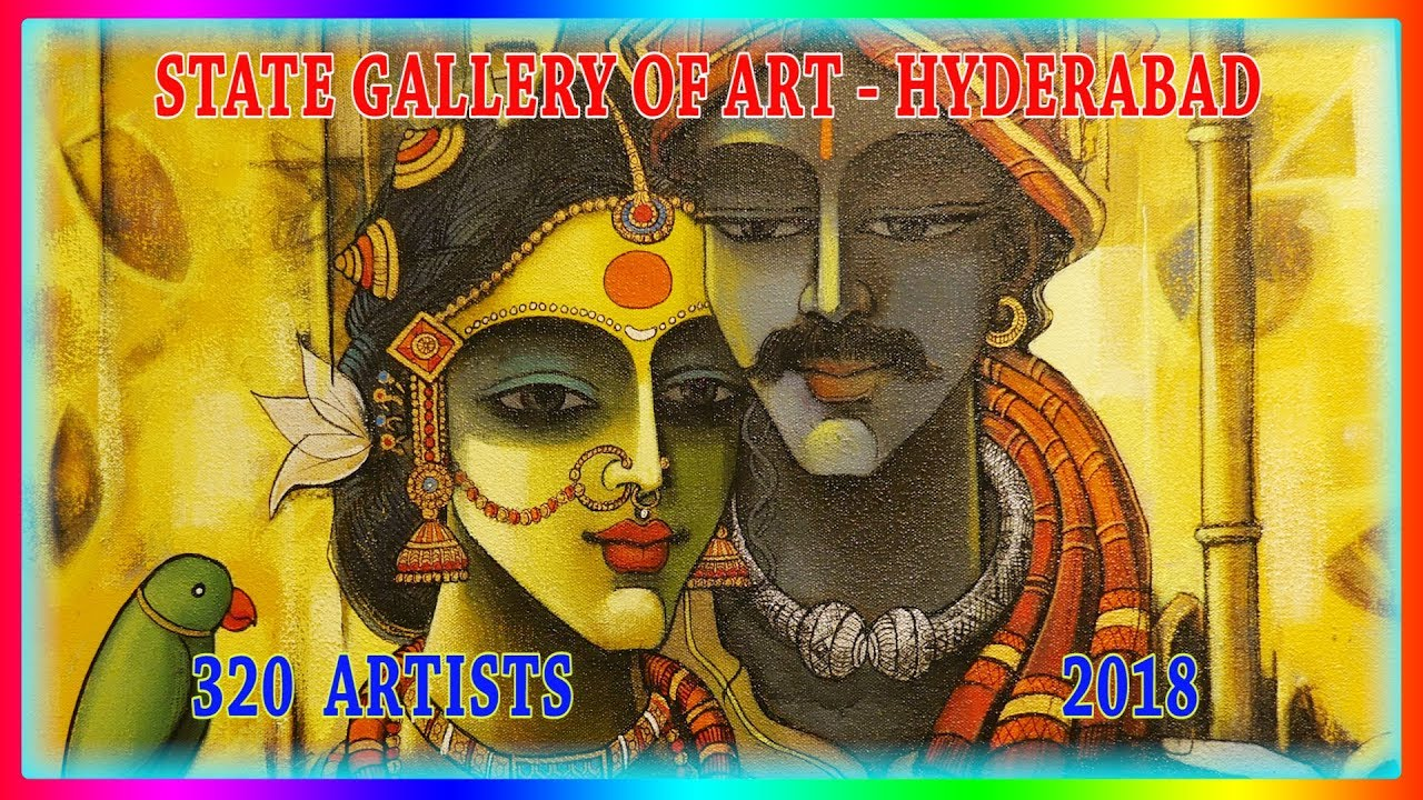 State Gallery of Art-Hyderabad-2018-Group of Artists-Painting Sculpture  Exhibition-S Nagender