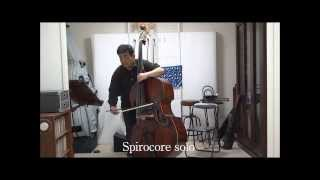 Trial purposes two types of solo string for Doublebass