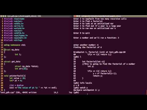 gdb commands tutorial