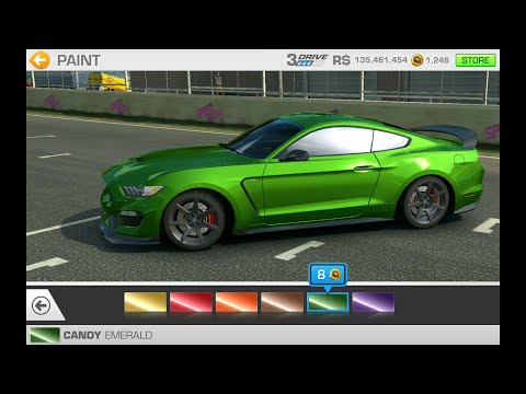 Real Racing 3-Track Day Domination Customize Options For Beginners Ford Mustang Shelby GT350R