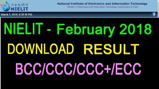 February 2018 result - BCC CCC ECC ~ Watch & Download your SCORE CARD and CERTIFICATE