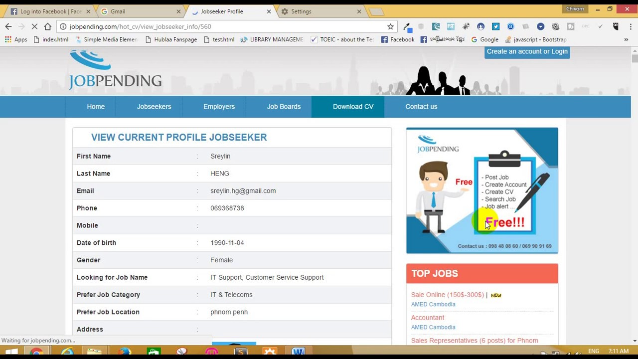 how to register account looking for job and and upload cv on jobpending - Register Cv