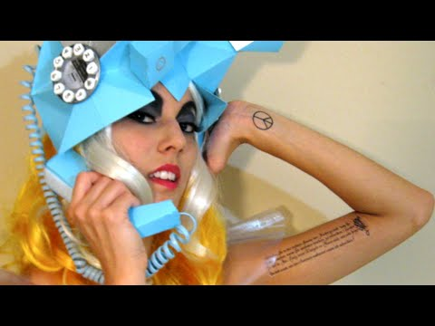 LADY GAGA TELEPHONE FULL COSTUME, HAT, MAKE-UP TUTORIAL by Leilani Joy